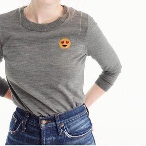 J. Crew Tippi Heart Eye Emoji Merino wool Sweater